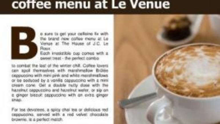Le Venue restaurant gets reviewed in the September edition of Women's choice